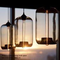 Retro Art transparent aquarium restaurant lights chandelier creative modern cafe bar