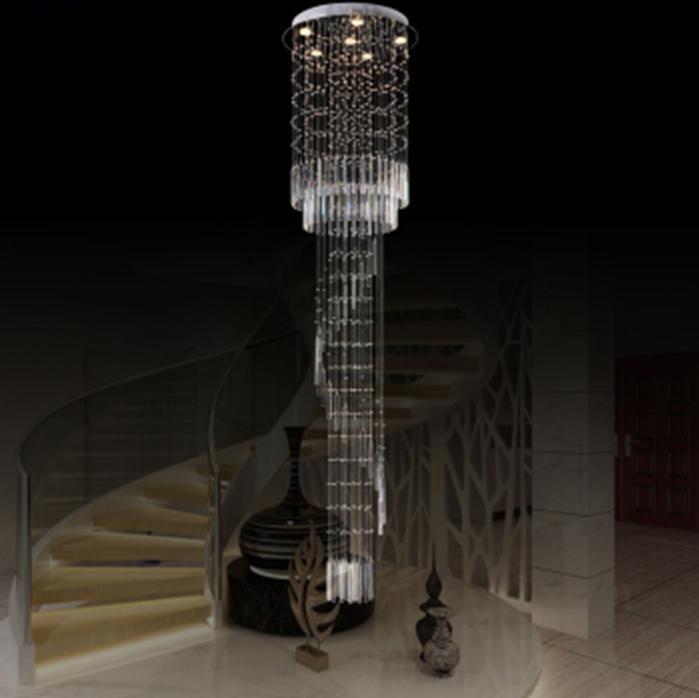 Duplex villa moderne luxe kristallen kroonluchter verlichting trap hal salon x263 in model - Trap binnen villa ...