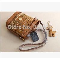 DA347 M New fashion resplendent diamante babysbreath genuine leather 100%  messenger bag wholesale drop shipping free shipping