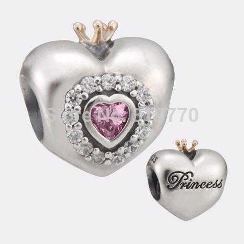 charm pandora cuore principessa