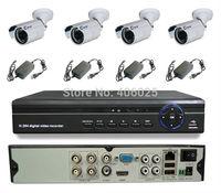 CWH-DW5104HD/6003MC security camera system 4CH 960H DVR with 4PCS waterproof camera surveillance CCTV DVR sets