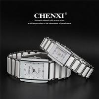 2015 New Brand Black&white Ceramics Lovers Watches Men Women Dress Watch Quartz Watch Pair Water Resistant watches