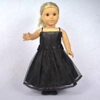 "Doll Clothes Fits 18"" American Girl Dolls, Doll Dress, Black  Party Dress,Girl Birthday Gift, Xmas  Present, F28"