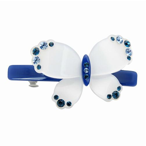 2015 Korean hair pin new arrive Korean high quality acrylic hair accessories cute butterfly rhinestone hair ornaments crystal(China (Mainland))