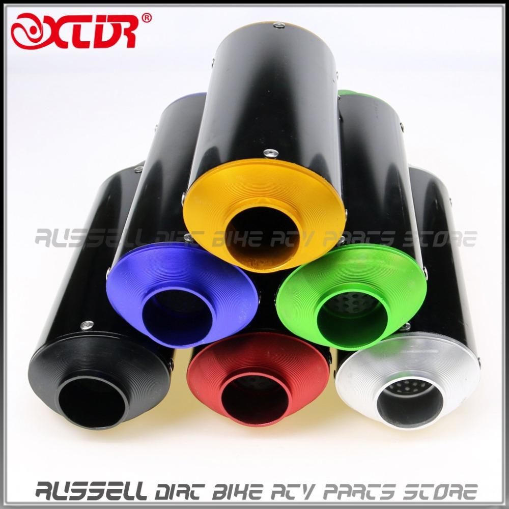 38mm Hole Diameter CNC EXHAUST MUFFLER For SSR Thumpstar LiFan YX SDG KLX110 KLX BBR Most of Dirt Pit Bike(China (Mainland))