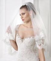 2014 New white lvory Mermaid lace applique vestido de fiesta Backless wedding dress bridal gown custom vestido de novia