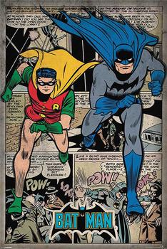 Canvas And PSV Poster Custom Batman – DC Comics Retro PPglue Wall Sticker