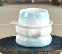 2pcs set 1teapot 1teacup Japan style celadon goldfish tea cup gaiwan quick cup tea pot travel