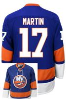 New York Islanders Matt MARTIN #17 Home stitched Hockey Jersey