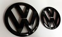Volkswagen VW Scirocco R Gloss Black Front and Rear Badge Emblem Set (08-14)
