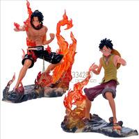 2015 New Arrive Japan Anime One Piece Monkey.D.Luffy Portagas D Ace pvc Figure Set Toys Gift A pair KY-57