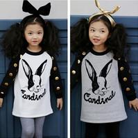 2015 NEW children's wear local Jinbo girls Bunny sweater long sleeve cotton girls hoodie Sweater
