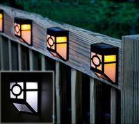 Free Shipping Solar Lamp LED Wall Light Garden Decorative Lights Fence Light