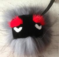 Details about  Mink Fox Fur Monster Pom Pom Doll Ball Key ring keychain Bag car Charm A003 15 design