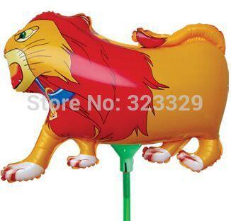 18.5 X 27 CM leão balão animal dos desenhos animados balões balões pendurar seca(China (Mainland))