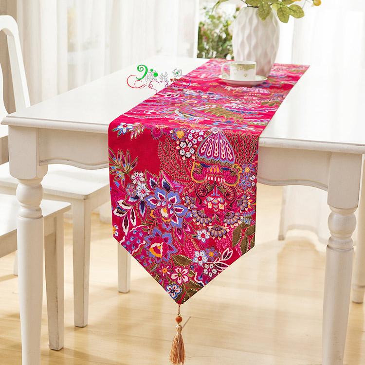 product New arrive flower print table runner caminho de mesa toalha de mesa table runners m101517