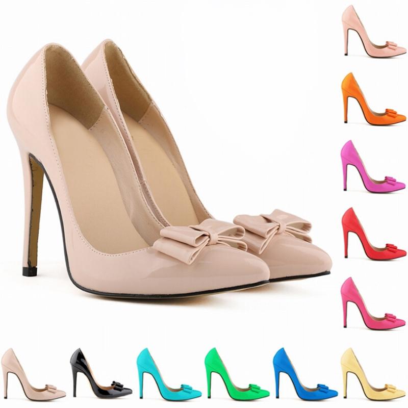 [해외]2015 새로운 패션 여성 클래식 뾰족한 발가락 단단한 폴리 우..