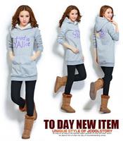 Plus size fashion 2015 casual women sweatshirt Letter full Hoodies sweatshirt  M L XL XXL