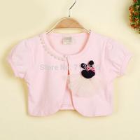 Girls new summer short sleeve vest wholesale children pearls clothing  AA406CN-31FC