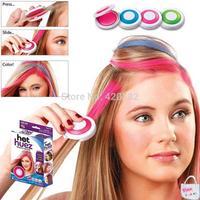 T$V 4 Color Hair Chalk Powder Fashion Christmas DIY Temporary Wash-Out Hair Color Non-toxic Temporary Hair Chalk Dye Show