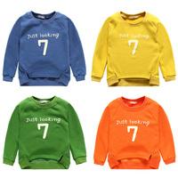 Winter male children's child clothing pullover sweatshirt top baby child plus velvet thickening sweatshirt outerwear wt-4085