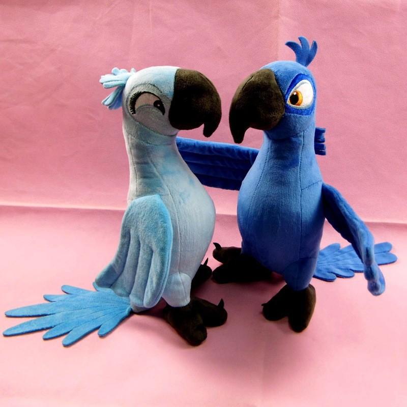 2Pcs/lot 30CM New Rio 2 Movie Cartoon Plush Toys Blue Parrot Blu & Jewel Bird Dolls Christmas Gifts For Kids Plush Doll(China (Mainland))