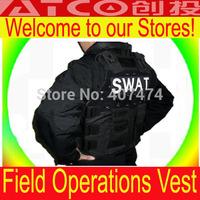 Wholesale mens vest outdoor Black  tactical vest training combat vest CS Field operations Vest