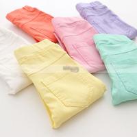 5pcs/lot 2015 spring hot sale girls candy color skinny pants kids leggings 6 colors 1030
