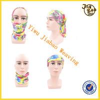 printed scarf for multi use seamless headwear