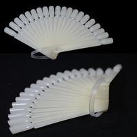 100sets/lot 20tips Pro Polish Gel Practice Sticks Tool Fan Board False Nail Art Tip Display DIY Natural #NAO012x100