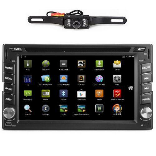 "HD Android 6.2"" Double Din 3G-Wifi Car GPS Nav DVD Player BT Indash Radio+CAMERA(China (Mainland))"