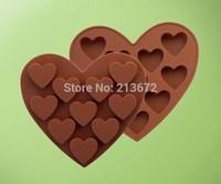 Heart 10PCS Eco-Friendly Food-grade Silicone Cake Mold Originality Convenient Fashions Creative Trends Chocolates Cake Tools