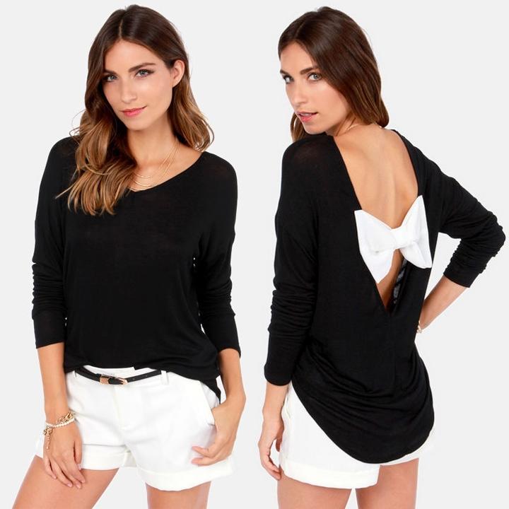 Bowknot Shirt Shirt 2015 Fashion Bowknot