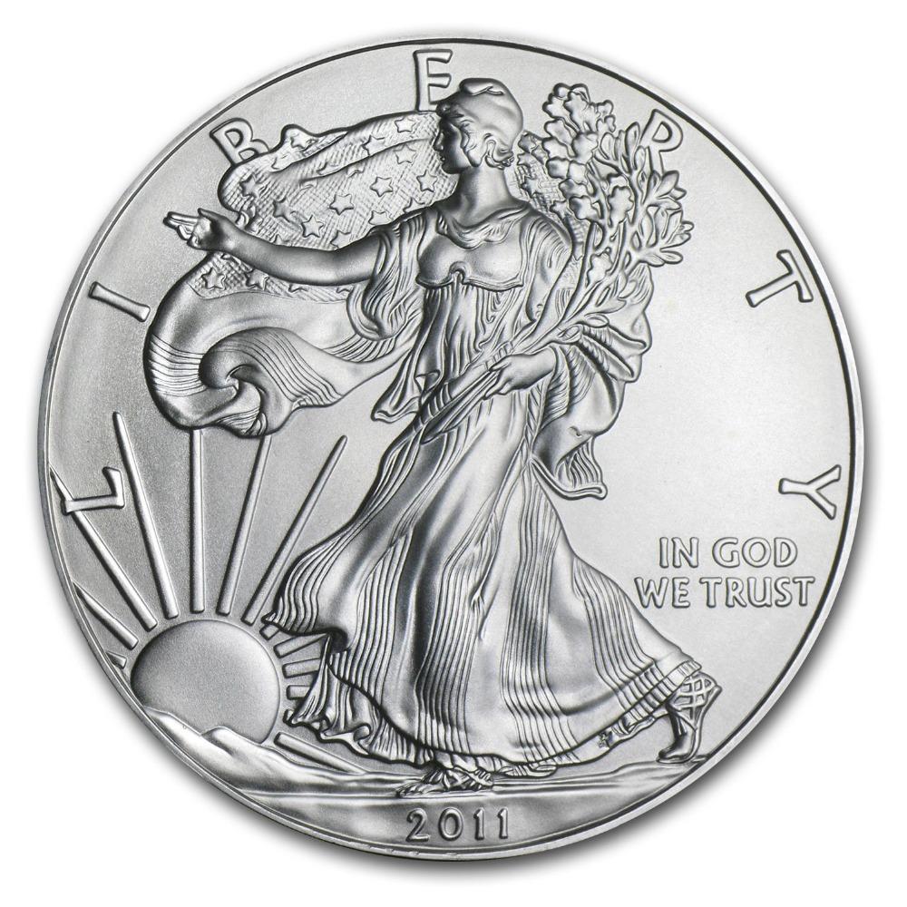 5PCS/lot 1 OZ Walking Liberty &American Eagle Coin Silver Uncirculated Coins(China (Mainland))
