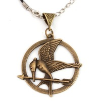 NEW hungry game Big Retro Punk Style Hunger Games Necklace 261080