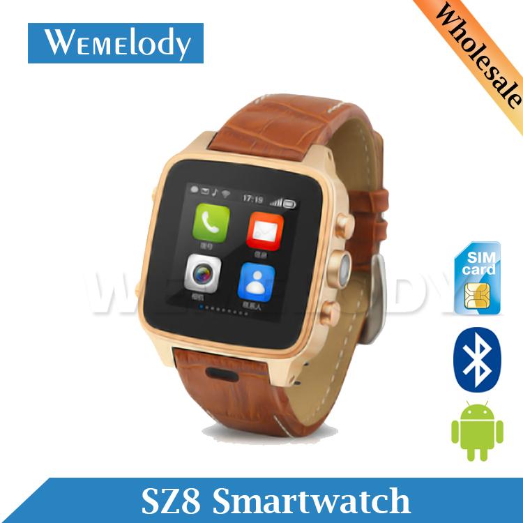 2015 New SZ8 Smartwatch 5MP Camera Waterproof Bluetooth Wristwatch 3G Mobile Phone Reloj Android Wrist Watch Relogio Celular(China (Mainland))