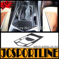 Free shipping SRX Carbon Fiber car gear trim, transmission decorative box for Cadillac SRX 2012-2015