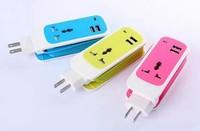 Free shipping US EU version Travel Adaptor Dual USB Universal Socket for phone pc pad