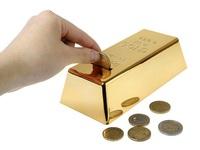 999.9 Gold Bullion Bar Piggy Bank Brick Coin Bank Saving Money Box