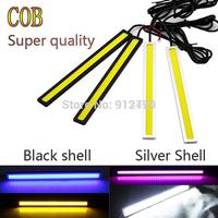 wholesale 20Pcs /10 pairs 12W 17CM Waterproof Auto Car DRL Led Daytime Running Lights DC12V Bar Car Light Source 6Colors