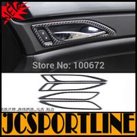 Free shipping 4PCS/SET Carbon Fiber  Car door bowl cover,Auto interior decoration for Cadillac SRX 2012-2015