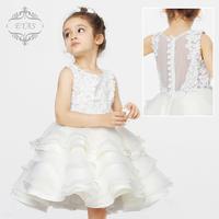 EYAS children princess dress wedding dress flower girl dress skirt white princess skirt female in autumn and winter