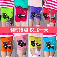 2015 summer cat girls legging baby children shorts knee length capris legging summer girls
