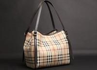 B women's handbag tote bag picture package genuine leather female bags one shoulder handbag plaid bag smiley bag