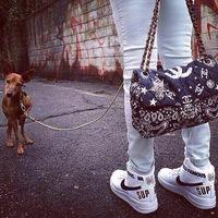 Top quality print cloth genuine leather elements bag women tote chain shoulder bag handbag bags
