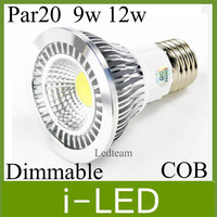 COB LED par20 dimmable bulbs lamp light E27 E26 9W 12W 650lm Led Spot Light Spotlight 85-265V Warm  Natural Cool white