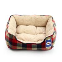 Hotsale Cheap Soft Plaid Fleece Pet Kennel  Dog Warm Bed House Plush Nest Mat Pad