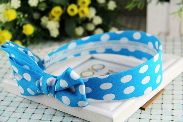 Supply double dot bow new fashion personality wide creative new Korean version of the hoop headband custom(China (Mainland))