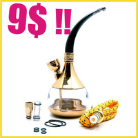 Hookah water pipes pot of water with a hose pipe full set of accessories Free Shipping