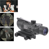 4 x 32 Zoom Scope Riflescope Trijicon ACOG TA31RCO-A4 Rifle Aiming Rule Sight Telescope with Gun Mount & Cloth